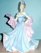 Royal Doulton A Tender Moment Pretty Ladies Figurine Blue Gown Hn5554 New In Box