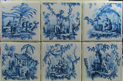Handmade Natural Stone Ceramic Tile Drink Coasters - Set Of 6 - Oriental 1a