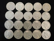 1922 P-d-s Peace Silver Dollars Roll Of 20 Coins Vf-xf 90 Silver L2