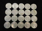 1922 P-d-s Peace Silver Dollars Roll Of 20 Coins Xf-au 90 Silver L1