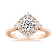 Classic Look 0.88 Ct Natural Diamond Wedding Ring Solid 14k Rose Gold Size 6 7 8