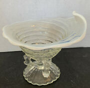 C1904 Antique Northwood Ocean Shell Twig Footed Opalescent Glass Vase
