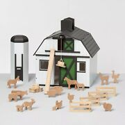 Wooden Toy Barn With Animal Figurines Hearth And Hand With Magnolia - Free Return