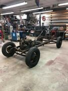 Model A Ford Frame With Complete Drive-line