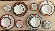 The American Rails Dinnerware 2011 Michael Leson 20 Pcs Collectible And Rare Set