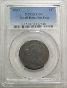 1803 Draped Bust Large Cent Pcgs G04 Nice Example Gc640