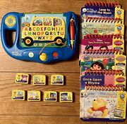 My First Leappad Lot Of 6 Leappad Flip Books, Cartridges And Alphabet Bus
