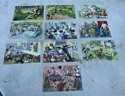 Collection Of 10 Vintage Alfred Mainzer Comical Cat Animal Postcards