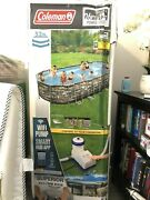 Coleman 26ft X 12and039 X 52 Power Steel Oval Above Ground Pool Set W/ Wifi Pump New