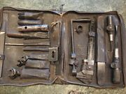 Vintage Auto Tool Kit In Classic Tool Zippered Case Used Condition