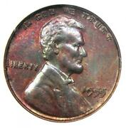 1955 Doubled Die Obverse Lincoln Cent 1c Ddo - Certified Anacs Ms63 Bu Unc