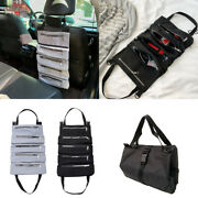 Car Tool Roll Up Bags Waxed Canvas Storage Carrier Pouch Tool Bag