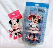 Tokyo Disneysea Minnie Mouse Figurine Strap Set Table Is Waiting Sweets