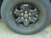 P245/70r17general Grabber Tire And Steel Wheels ,good Tread,chrome Andchevy Hub Caps