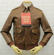 The Real Mccoyand039s Auth A-2 J.a.dubow Bomber Flight Jacket Brown 34 From Japan