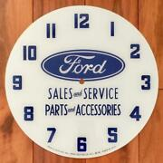 14-3/8 Ford Round Replacement Clock Face For Pam Clock Free Ship