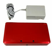 Nintendo 3ds Flame Red Super Mario 3d Land Bundle With Stylus Sd Card Charger