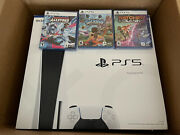 Sony Playstation 5 Console Disc Version With 3 Games Ships Fast Brand New