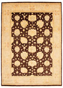 Vintage Hand-knotted Carpet 9'1 X 12'6 Traditional Oriental Wool Area Rug