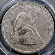1860 O Seated Liberty Dollar Pcgs Ms 61 Fully Struck Silvery Surfaces With Some