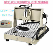 3/4 Axis Usb Cnc Router 6040 Engraver Metal Milling Drilling 3d Machine 1.5kw