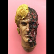 1/6 Scale Two-face Harvey Dent Head Sculpt For 12and039and039 Hot Toys Action Figure Body
