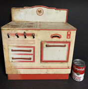 Vintage Antique Wolverine Play Stove Oven Range Kitchen Tin Metal Play Doll Toy