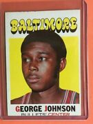 1971/72 Topps 21 George Johnson Bullets Nr/mint Ships In New Top Loader