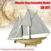 Diy Wooden Sailing Ship Boat Assembly Model Kits Ship Home Office Toy Gift