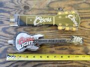 Beer Tap Handle X 2. Electric Acoustic Guitar Coors And Coors Light Model. Cool.