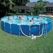 Intex 18ft X 48in Metal Frame Swimming Pool Set With 1500 Gfci Pump And Filter