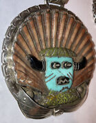 Important Native American Francisco Gomez Shell Kachina Necklace Sterling Silver