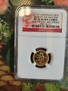 2012 Australia 1/10 Gold Proof Coins Lunar Dragon 0.999 Pure Gold . Proof 70 Ngc