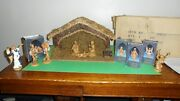 Lot I-11. Fontanini Manger And 11 Figures By Roman Italy 1992
