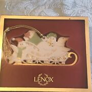 New In Boxlenox Penguins In A Sleigh Christmas Ornament We Make A Great Team