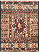 Vintage Hand-knotted Carpet 8and03910 X 11and0398 Traditional Oriental Wool Area Rug
