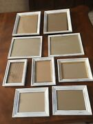Vintage Picture Frames Wall Decor Farmhouse Shabby Chic Faux Wood Lot Of 9, Used