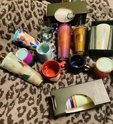 Huge Mixed 13 Piece Lot Of Starbucks Mugs Cups And Tumblers All Nwt 2020-2021