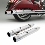 Motorcycle Muffler Exhaust Pipes Fit For Indian Classic Vintage 2014-2018