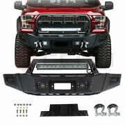 Black Powder Coated Front Bumper Protector With Led Light For 09-14 Ford F150