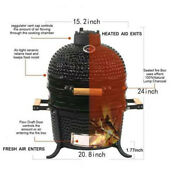 15 Barbecue Charcoal Grill, Outdoor Garden Ceramic Grill Bbq Smoker