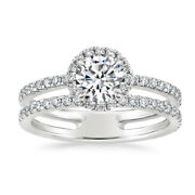 1.40 Ct Oval Cut Natural Diamond Anniversary Ring 950 Platinum Size Selective