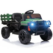 Segmart 12v Ride On Tractor Truck Rc Electric Kids Vehicles Toy Car W/ Trailer
