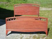Vintage Mahogany Federal Style Double Full Size Bed Frame