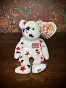 Rare Ty Glory Beanie Baby With Numbered Tush Tag And Tag Errors Protective Case