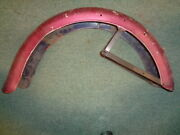 Used Original Rear Fender With Brackets Indian Vertical Scout Warrior Arrow
