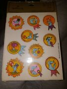Vintage Hallmark Stickers Seals Seal Of Approval Reward 4 Sheets New In Pack