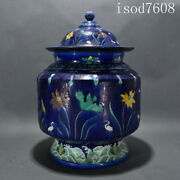 """16""""chinese Antique Kangxi In Qing Dynasty Tricolor Flower And Bird Pattern Pot"""