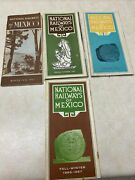 Lot Of 4 Vintage National Railways Of Mexico Timetables
