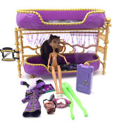 💜 Monster High Lot Clawdeen Wolf Room To Howl Bunk Bed And Dead Tired Doll 💜 Lot